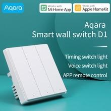 Aqara Interrupteur mural intelligent D1/commutateur sans fil D1 interrupteur ZigBee version travailler avec Xiaomi Mi Home Application compatible Apple homeKit