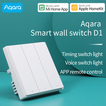 Aqara akıllı duvar anahtarı D1/kablosuz anahtarı D1 ışık anahtarı ZigBee sürümü ile çalışmak Xiaomi Mi ev App uyumlu apple homeKit