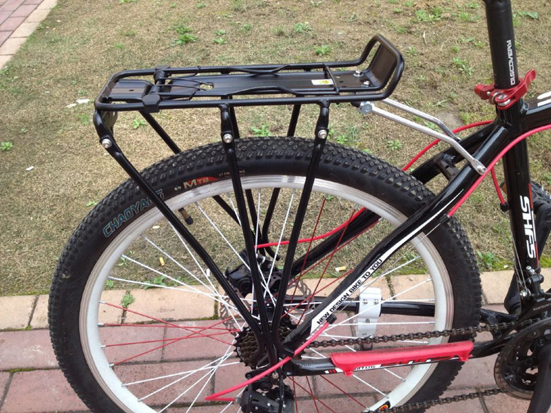 New Style Bike Disc Brake Support Mountain Bike Basket Bicycle Accessories Schoolbag Rack Riding Rear Rack Back Seat