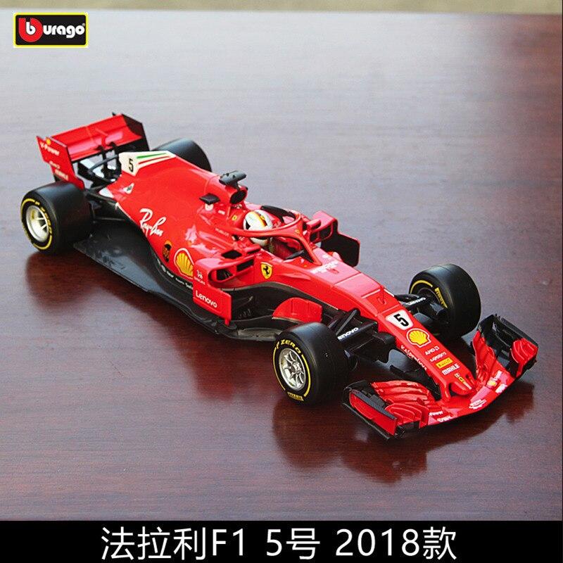 Burago 118 Ferrari 2018 SF71-5 alliage F1 voiture modèle moulage sous pression modèle de voiture simulation voiture décoration collection cadeau jouet