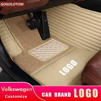 Custom Car Floor Mats for vw Volkswagen Amarok Platform/Chassis Atlas NEW Beetle Convertible Hatchback Pickup SUV Mats Carpets