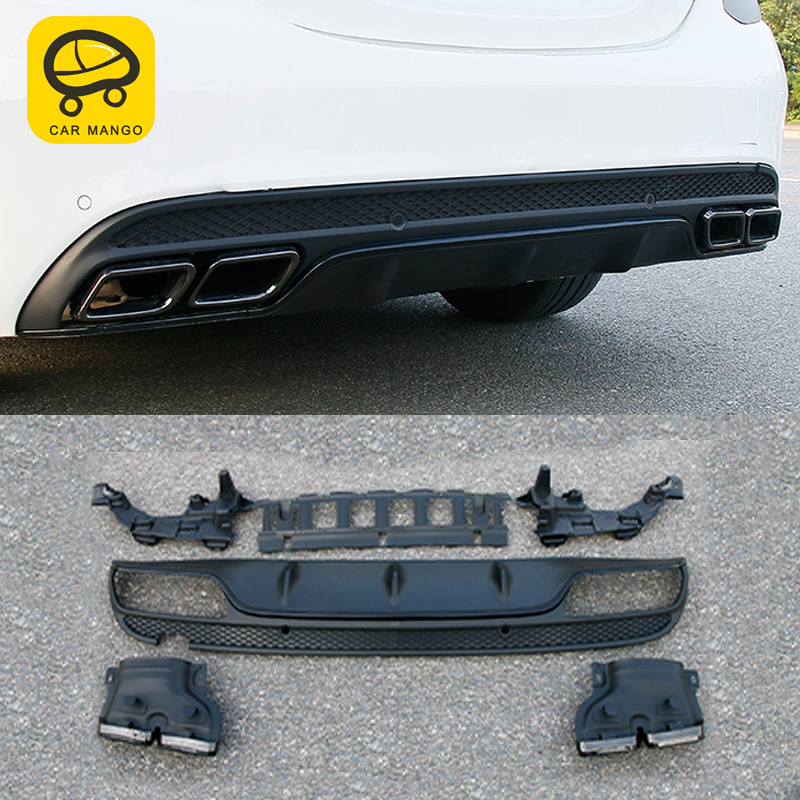 CarManGo for Mercedes Benz C Class W205 2016-2019 Car Styling Rear Bumper Fender Protector Cover Trim Frame Exterior Parts