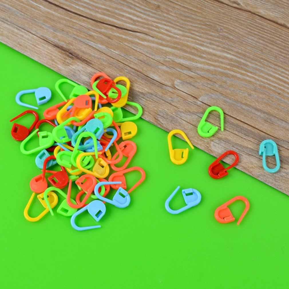 10 قطعة البلاستيك الملونة غرزة ماركر حلقة أصحاب مقاطع إبرة الحياكة إبرة كروشيه قفل أداة الحرفية أدوات خياطة
