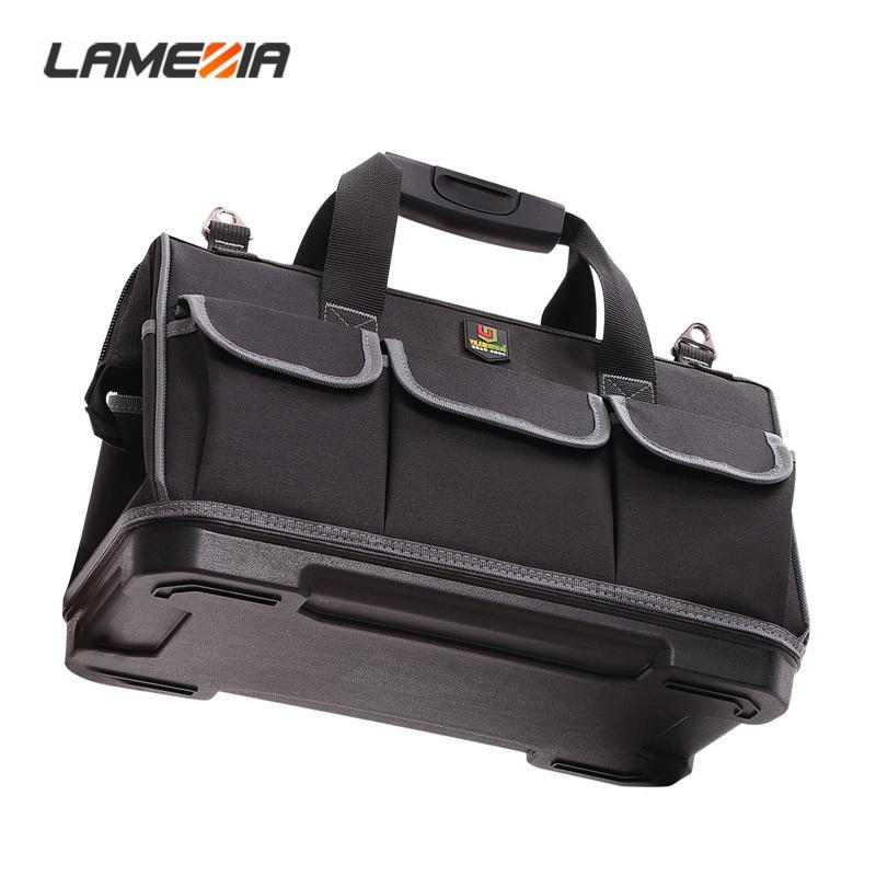 LAMEZIA Large Capacity Oxford Cloth Tool Bag Hardware Organizer Crossbody Travel Toolkit Electrician Carpenter Backpack Handbag