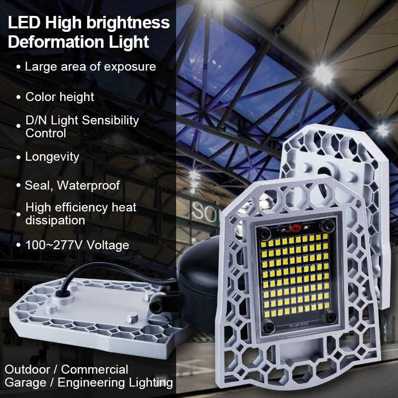 100W 80W 60W E27 Bóng Đèn LED 110V 220V LED Biến Dạng Cao Cấp Thông Minh cảm biến Cho Nhà Kho Nhà Máy Để Xe Tầng Hầm Tập Gym