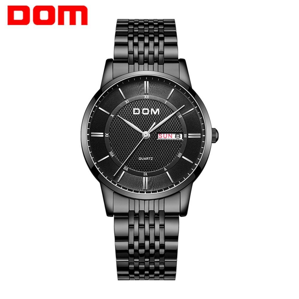 DOM Watches Fashion Men Top Brand Luxury Mens Steel Wristwatches Men's Quartz Sports Watches relogio masculino M-11D-1M
