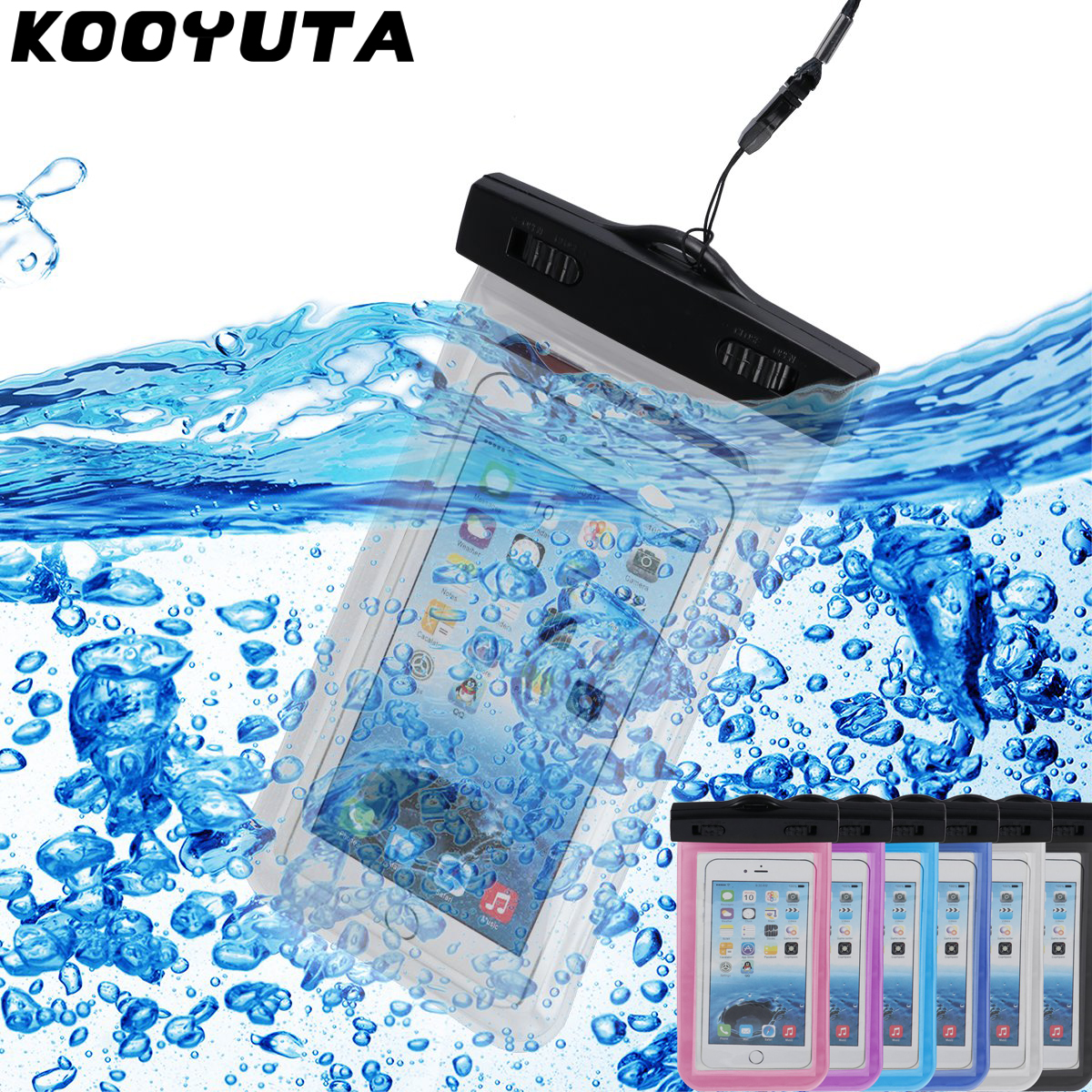 Hot Sale Transparent Waterproof Dirtproof Underwater Dry Case Cover For Iphone 5 5S 6 6S 7 Plus/Samsung/LG/Xiaomi Dry Pouch
