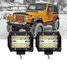 ECAHAYAKU 1x 4Inch 60W LED Work Light Bar Combo Offroad Motorcycle Foglights Light Bar For Pickup 4WD 4x4 ATV UTV SUV Jeep Truck