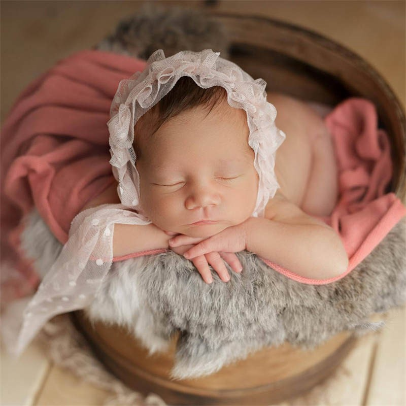 0 3M Newborn Girl Hats Beautiful Princess Lace Infant Baby Photography Hair Accessories Baby Headwear in Hair Accessories from Mother Kids