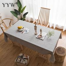 High Quality Nordic Style Gray Cotton Tablecloth Multifunctional Rectangle Table Cover Tablecloths Kitchen Decor
