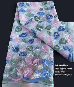 Image 4 - Tissu africain en dentelle française, tulle nigérian, tissu de couture de haute qualité, tenue occasionnelle, liquidation 5 yards