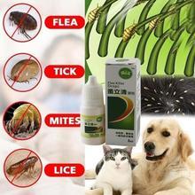 8 мл Домашние животные против блошиных капель для собак инсектицид блошиные вши средство от насекомых жидкая кошачья кожа здоровый уход спрей Deworming Treat продукты
