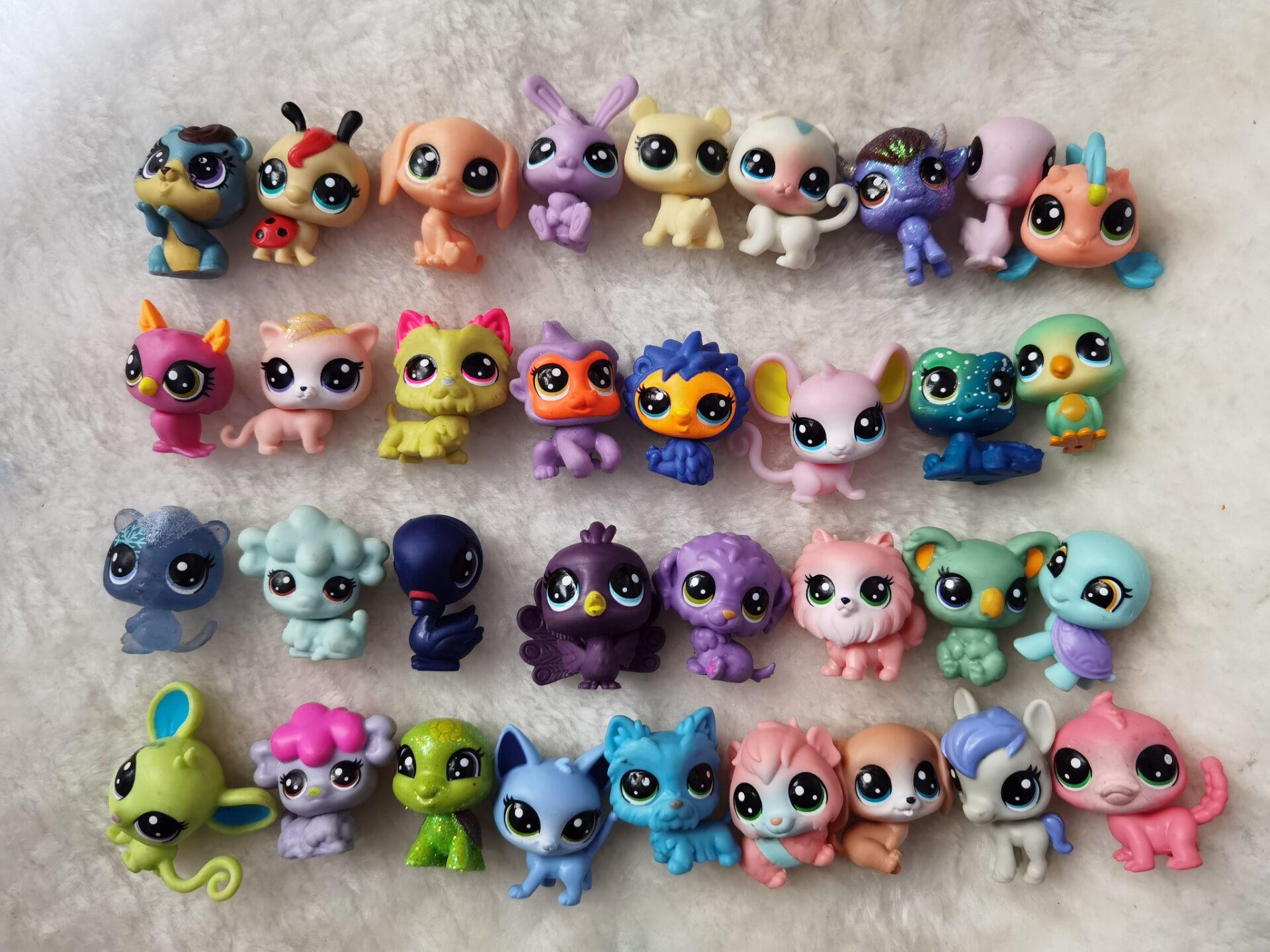 12 шт., 2-3 см, старые игрушки для домашних животных, кошка, щенок, фигурка, Мини-куклы, игрушки, фигурки, Классический маленький питомец, кошка, с...