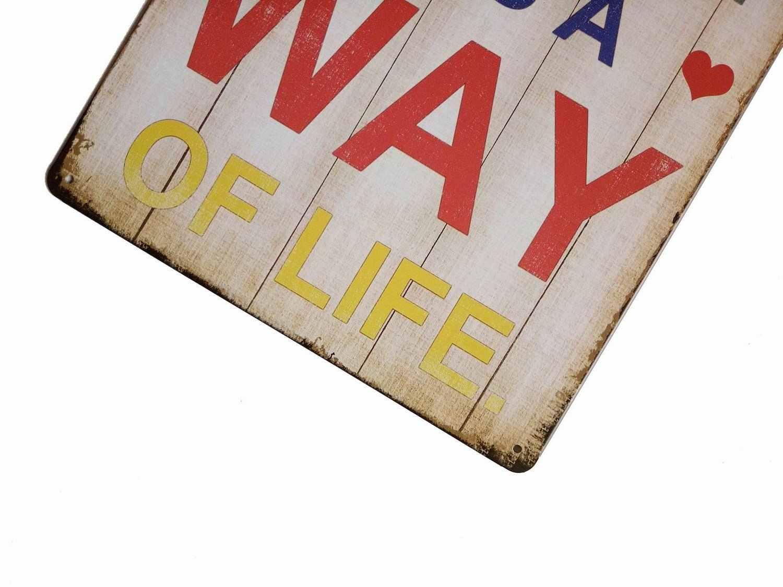 Счастье-это не конечная цель это образ жизни Винтаж жестяная вывеска Настенный декор 20X30 см