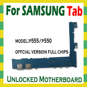 Image 2 - Original Unlocked Motherboard For Samsung Galaxy Tab A 9.7 P555 P550 Tablet main logic board with full chips mainboard Android