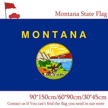 90*150cm 60*90cm 3X5FT Flag Of Montana State 90x150cm Customized Pirate Banners 30*45cm Car Flag image