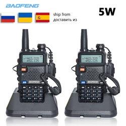 2pc Baofeng UV-5R Walkie Talkie VHF UHF uv5r baofeng 5W Portable outdoor Two Way Radio Radio Station from Russia Ukraine Spain