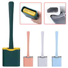 Toilet-Brush Wc-Accessories with Quick-Drying Holder-Set for Flat-Head No-Dead Soft Flexible