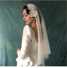 2 уровня новая Фата невесты белого цвета в стиле ретро; Элегантная