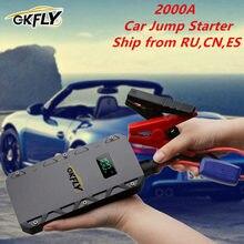 2020 GKFLY urządzenie do uruchamiania awaryjnego samochodu 2000A urządzenie zapłonowe Power Bank baterii Jumpstarter Auto Buster awaryjne Booster ładowarka samochodowa