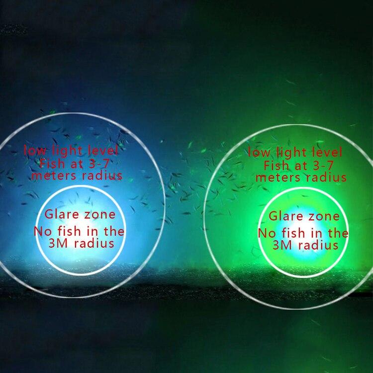 subaquática noite luzes do barco de pesca 5 m a 10 cabo doca luz
