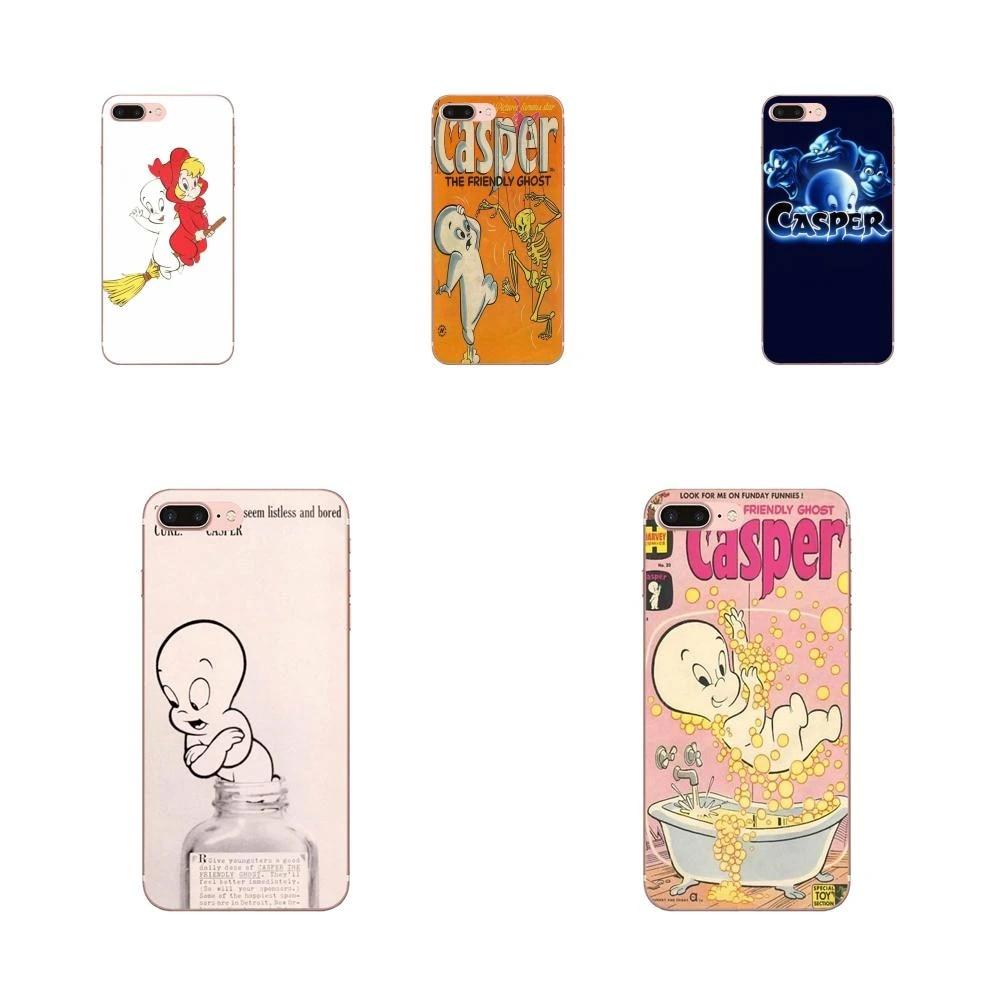 Art Print Transparent TPU Cover Casper & Friends For Apple iPhone 4 4S 5 5C 5S SE 6 6S 7 8 11 Plus Pro X XS Max XR