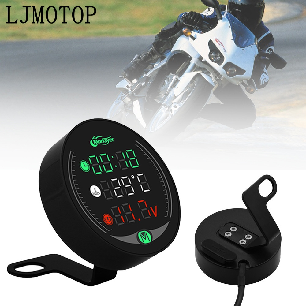 4-in-1 Motorcycle Meter Time Water Temperature Voltmeter USB Display Table For <font><b>Honda</b></font> <font><b>CBR600</b></font> <font><b>F2</b></font>,F3,F4,F4i VFR 1200 ST 1300 CB1100 image