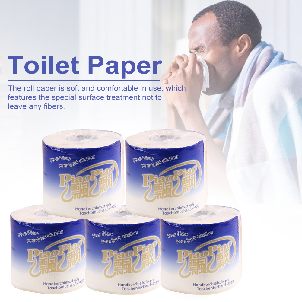 Toilet Paper Tissue 3 Layers Egradable Roll Paper Bathroom Kitchen Toilet Tissue Smooth Soft Toilet Paper 10 Roll