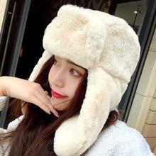 EOEODOIT женские шапки-бомберы для холодной зимы, теплые толстые меховые шапки с защитными ушами, козырек, шапка для девочек