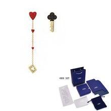Новые модные перфорированные золотые серьги swa в виде покерной