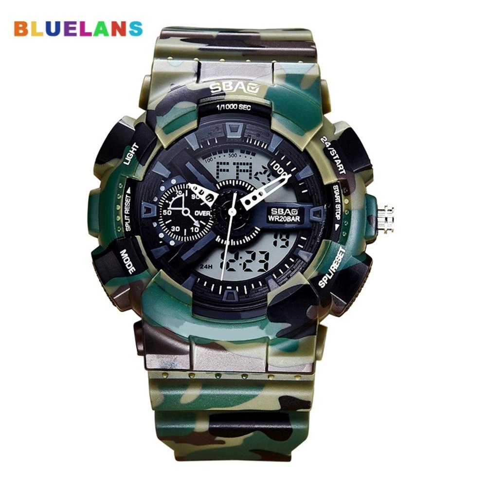 Men's LCD Digital Wristwatch Fashion Analog Quartz Date Waterproof Wrist Watch