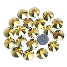 Хорошее качество блестящее золото ss16 ss20 Горячая фиксация