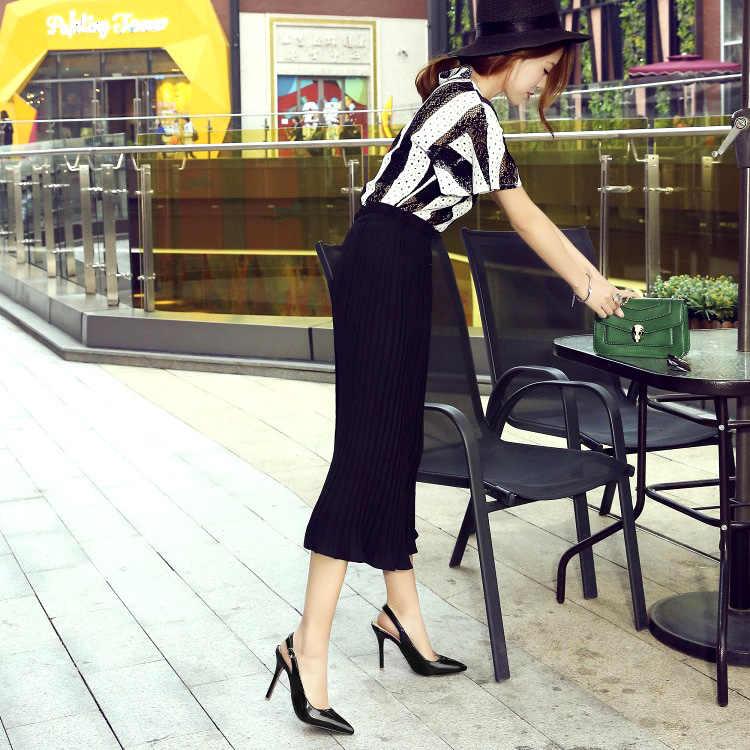 LIHUAMAO ผู้หญิงส้นสูงรองเท้าแตะ slingback stiletto รองเท้าส้นสูงปั๊มสายรัดข้อเท้า pointed Toe SLIP บนงานแต่งงานสุภาพสตรีรองเท้า