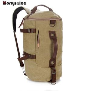 Image 2 - Männer Tasche Leinwand Rucksack Große Kapazität Mann Reisetasche Bergsteigen Rucksack Hohe Qualität 2 größen Zurück Pack