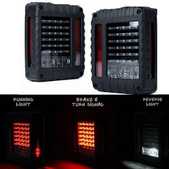 LED Tail Lights Smoke Lens For Jeep Wrangler 2007 2017 JK JKU With Break Back Up Light Reverse Turn Parking Signal Lamp Assembly