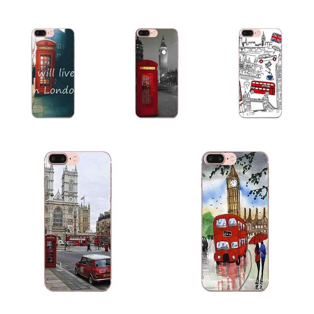 Londres Bus angleterre téléphone nouveauté Fundas pour Huawei P7 P8 P9 P10 P20 P30 Lite Mini Plus Pro Y9 Prime P Smart Z 2018 2019