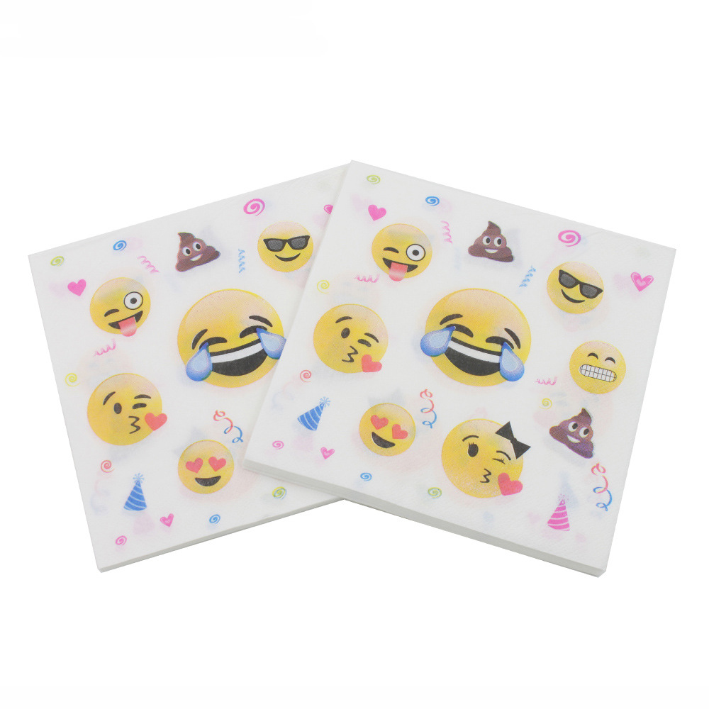 [Currently Available] Color Printed Napkin Smiley Creative Tissue Kleenex RUQT-28