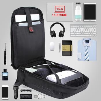 15.6' Laptop Solar Backpack Large IPad Bag USB Charging Business Backpacks Traveling Daypack Anti Theft Backpack 2