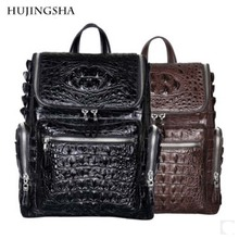 hujingsha Thai Siamese crocodile skin man bag man backpack leisure business large capacity outdoor travel bag man
