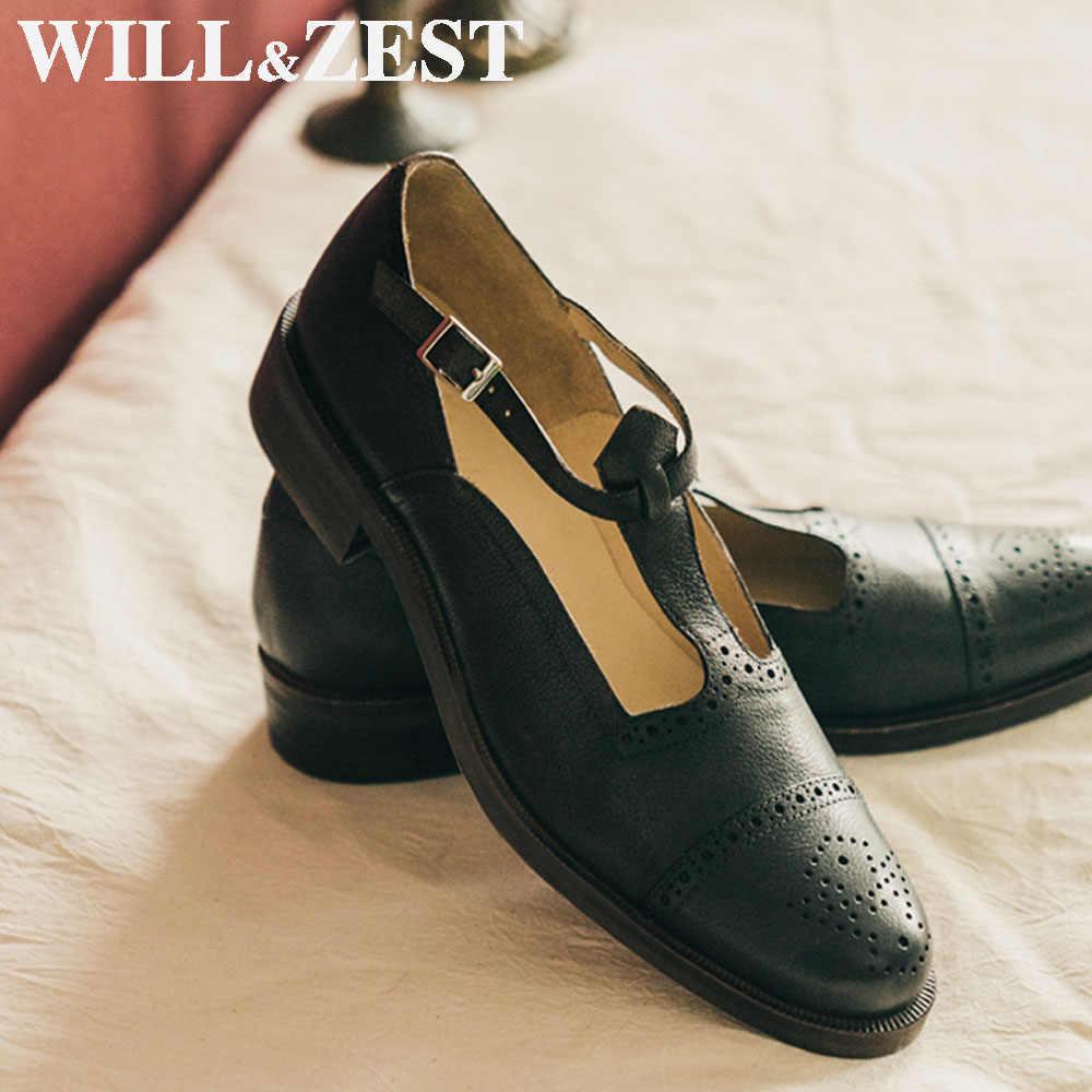 Will\u0026Zest Genuine Leather Women Oxford
