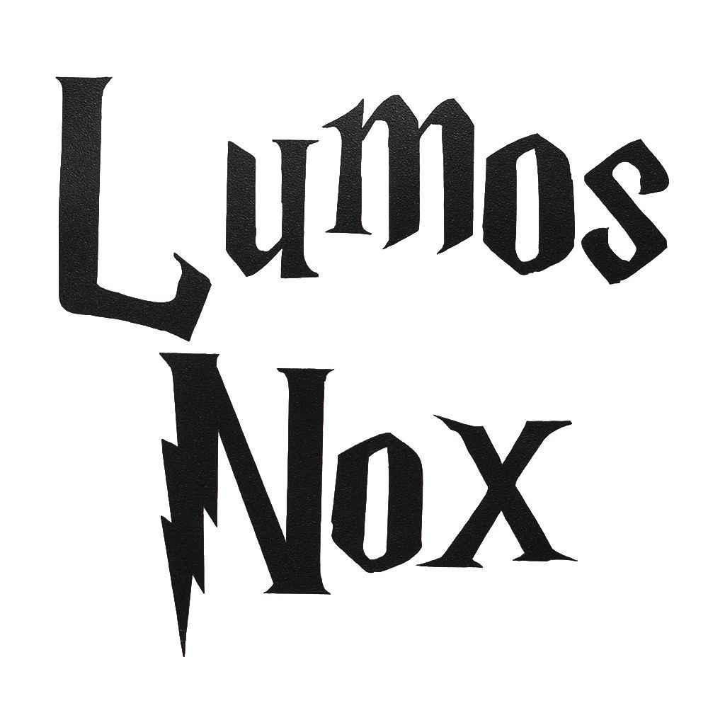 สติ๊กเกอร์ติดผนังคลาสสิก Lumos NOx สวิทช์สติกเกอร์สำหรับห้องเด็กตกแต่งบ้าน Intimate อุปกรณ์เสริม