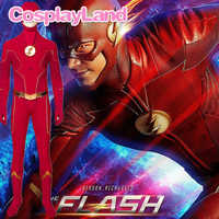 Disfraz de Flash de la temporada 6 para adultos, traje de personaje de la temporada 6, con botas personalizadas, para Halloween, Carnaval y fiesta