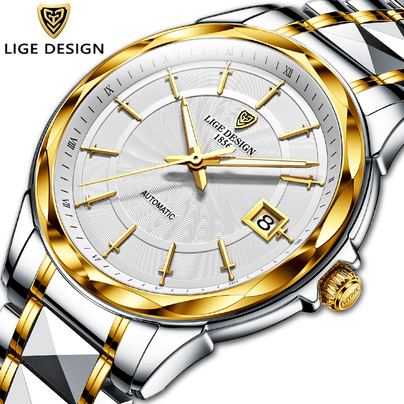 2020 New LIGE Sword Shaped Pointer Automatic Mechanical Watch Luxury Tungsten Steel 50m Waterproof Business Watch Men Watches|Mechanical Watches| - AliExpress