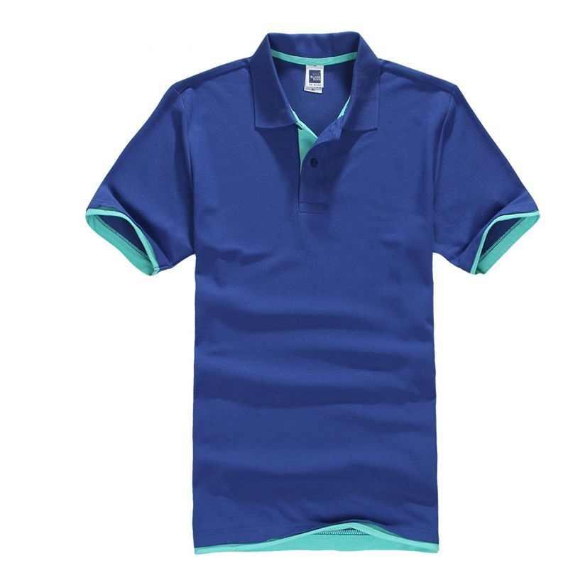 Été classique Polo hommes coton solide à manches courtes t-shirt respirant Camisa Masculina Polo Hombre maillots Golftennis 3XL