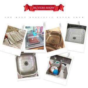 Image 3 - ステンレス鋼野菜ラック調整可能なシンクフルーツ収納ホルダー皿ホーム主催乾燥キッチン機能バスケット