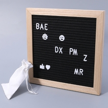 Felt Message Board Decor Board Frame White Letters Symbols Number Characters Bag