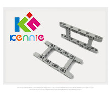 4/8/16 stks/partij Kennie DIY MOC Compatibel Building bulk liftarm Blok Onderdelen/Assemblages NO.1 64178 Beam r. frame 5X11 Lichtgrijs(China)