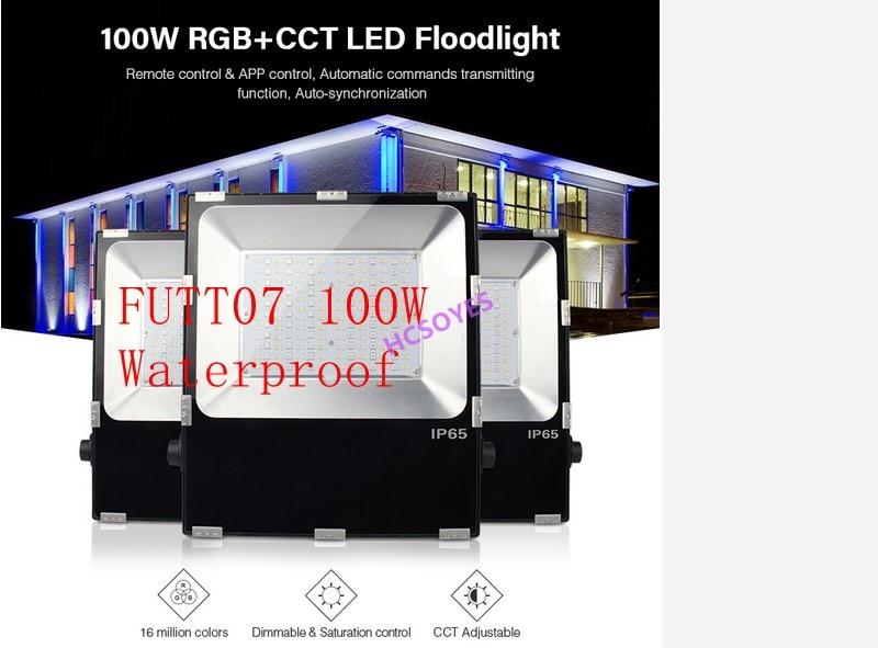 Mi. Light FUTT07 100W éclairage LED IP65 étanche RGB + CCT réglage 2.4G sans fil à distance wifi cellpnone APP contrôle LED spot