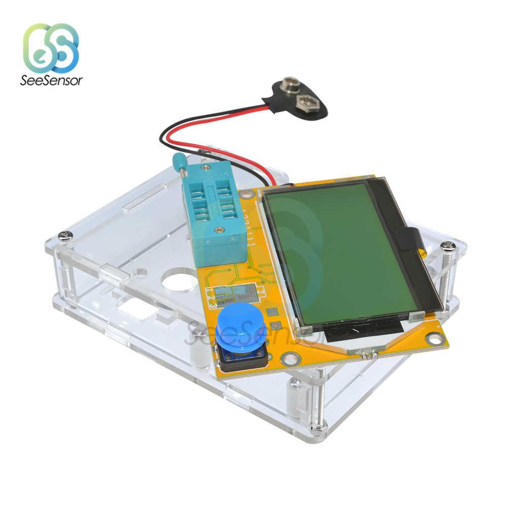 LCR-T4 Mega328 Multimeter Transistor Tester ESR Meter Dioda Triode Kapasitansi ESR Meter MOS PNP NPN LCR 12864 LCD Layar Tester