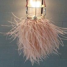Женская вечерняя сумка из страусиного меха, Роскошная вечерняя сумка для свадьбы, сумка тоут с цепочкой и кисточками, сумка через плечо, клатчи на день любви с перьями